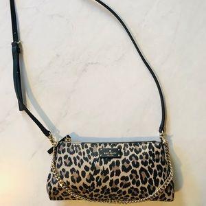 Kate Spade mini crossbody leopard purse